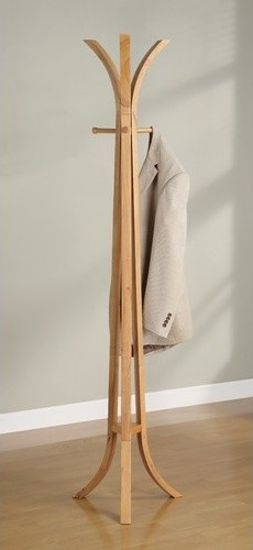 3bae546e5346 Wooden Coat Rack in Natural Oak - Modern - Coatracks And Umbrella ...