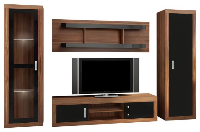 low priced d99ae b28c2 Verin TV 4-Piece Set, Plum, Black Gloss