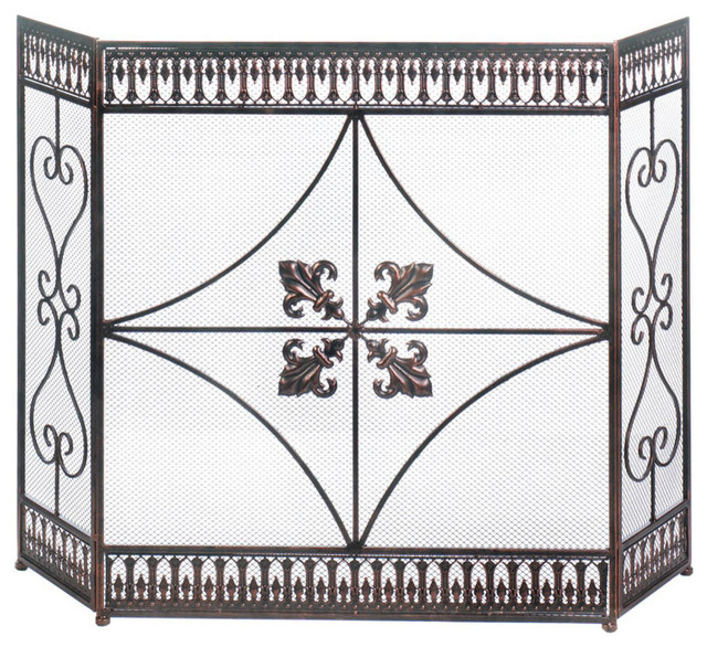 French Flourish Fireplace Screen.