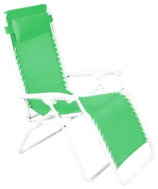 Zero gravity chair grass green contemporary outdoor for Chaise zero gravite