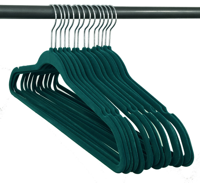 Closet Complete Velvet Hangers, Teal, Set Of 120.