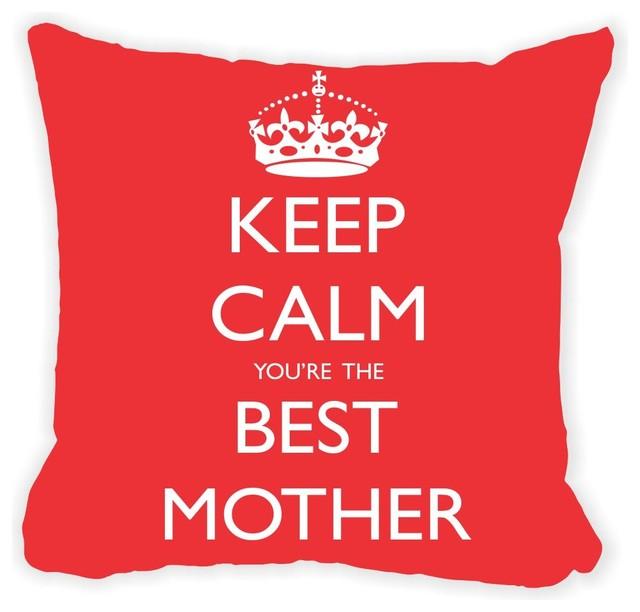 Keep Calm Best Mother Microfiber Throw Pillow