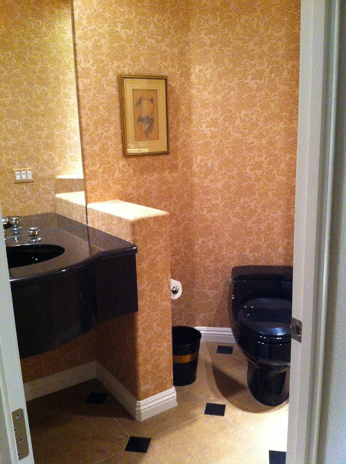 Would The White Sink And Toilet Fit In With The Rest Of The Room. The  Baseboards And Door Are White.