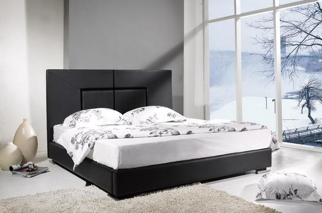 Raffi Modern Leather Bed Frame Contemporary Beds Los