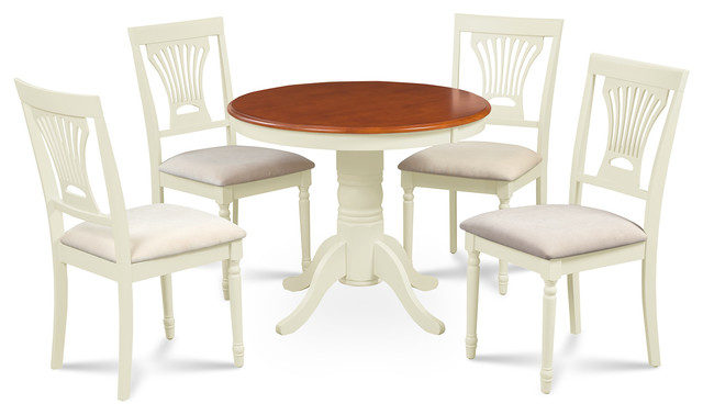 M d furniture llc brookline 5 piece small kitchen table for Traditional kitchen table sets