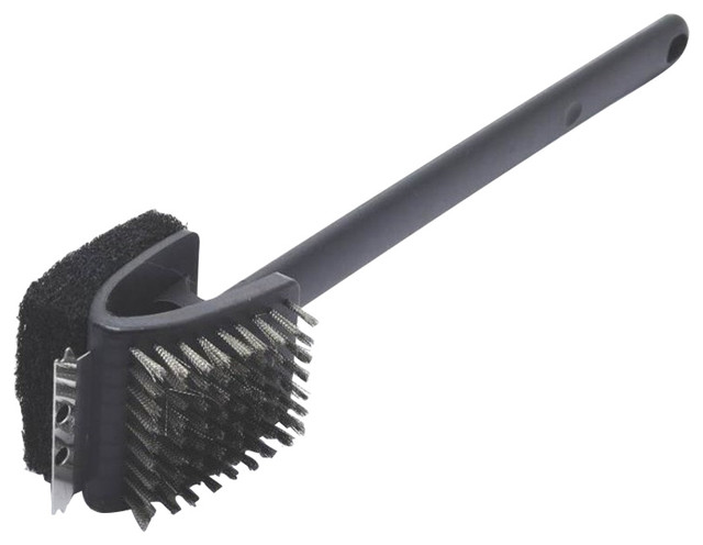 """Grillpro 2-Way Grill Brush With Scrubber, 17""""."""
