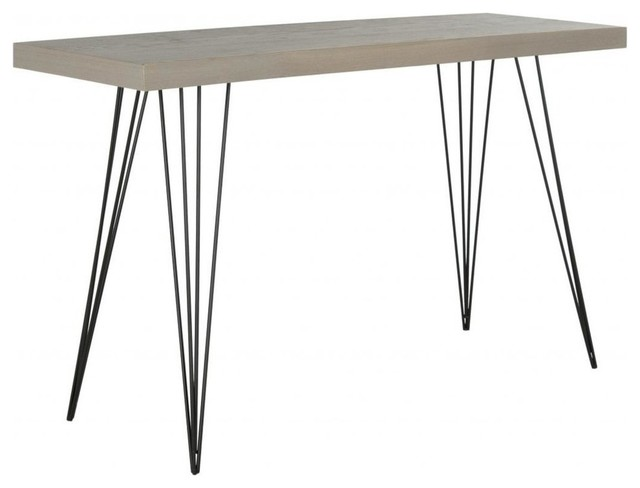 Safavieh Wolcott Lacquer Console Gray And Black