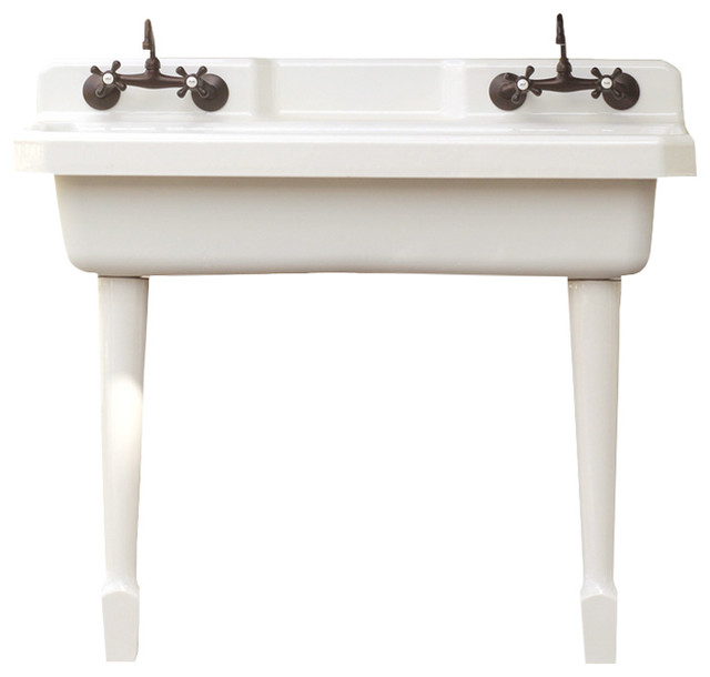 apron kitchen sinks pros and cons farmhouse lowes farm sink vintage style utility legs front with drainboard