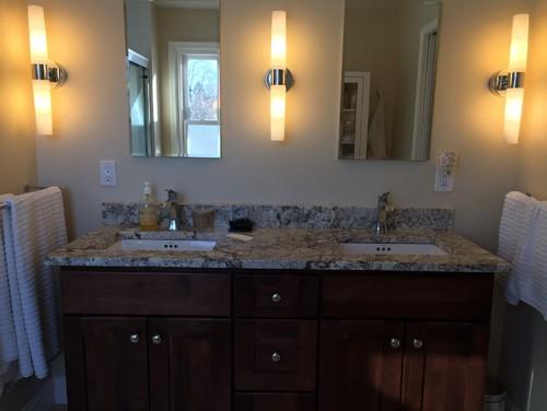 Bathroom Light Fixture Move need bathroom sink/mirror/sconce advice asap!!