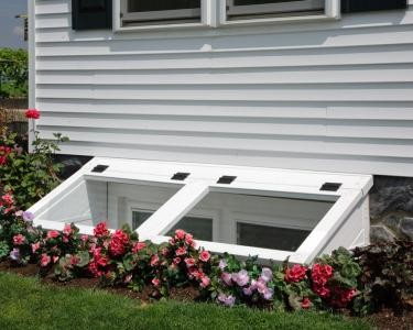 Egress Window well added to meet Building Code Traditional
