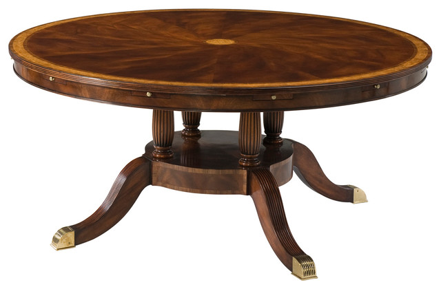 Theodore Alexander The English Cabinet Maker Bennett Radial Dining Table  Traditional Dining Tables