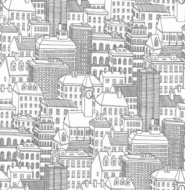 Metropolis Peel And Stick Wallpaper Bolt. -1