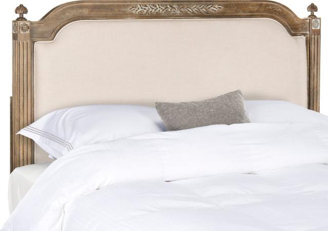 Safavieh Rustic Wood Linen Headboard, Queen.