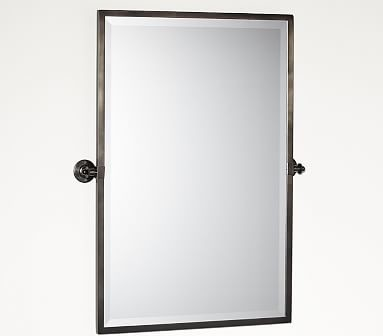 Kensington Pivot Mirror, Extra Large Rectangle, Antique Bronze finish