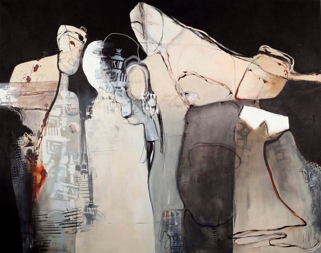 """Checks""   - Large Modern Artwork"