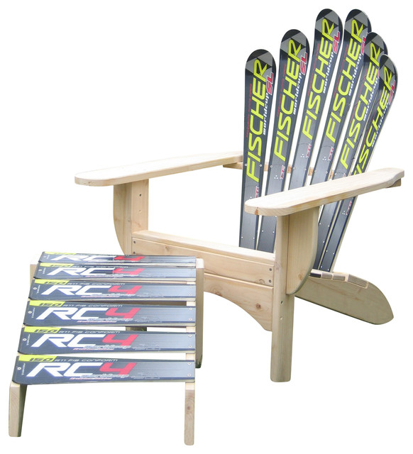 Snow Ski Skichair and Ottoman Black Fisher - Transitional - Adirondack Chairs - by Skichair1  sc 1 st  Houzz & Snow Ski Skichair and Ottoman Black Fisher - Transitional ...