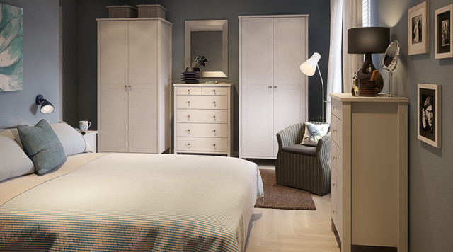 Stockholm White Bedroom Furniture - Contemporary - Hampshire