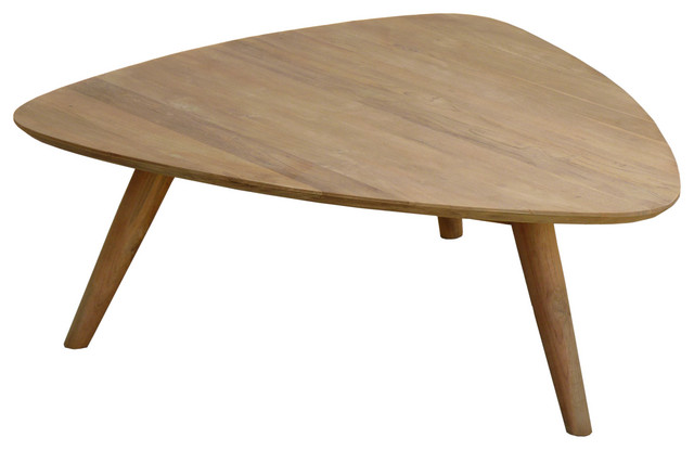Recycled Teak Wood Retro Coffee Table Midcentury Coffee Tables By Chic Teak Houzz