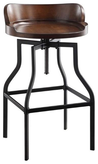 Amazing Marais Adjustable Stool Chestnut And Black Squirreltailoven Fun Painted Chair Ideas Images Squirreltailovenorg