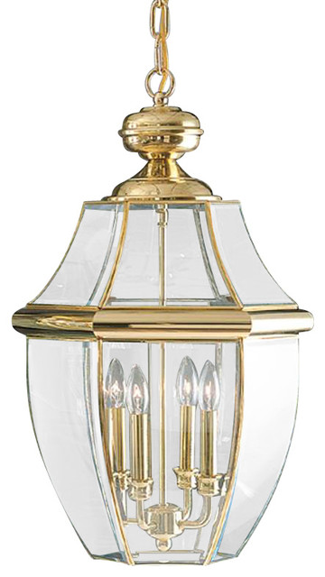 Quoizel Lighting Ny1180b Newbury Outdoor Hanging Light In Classic Polished Brass.