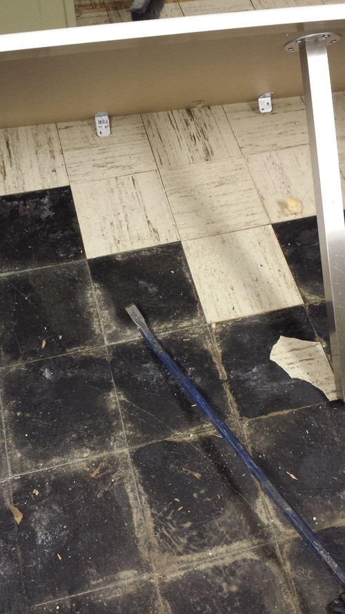 What To Do With Wet Asbestos Floor Tile And Black Adhesive