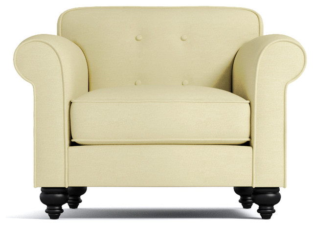 Pico Tufted Back Chair, Buckwheat Traditional Armchairs And Accent Chairs
