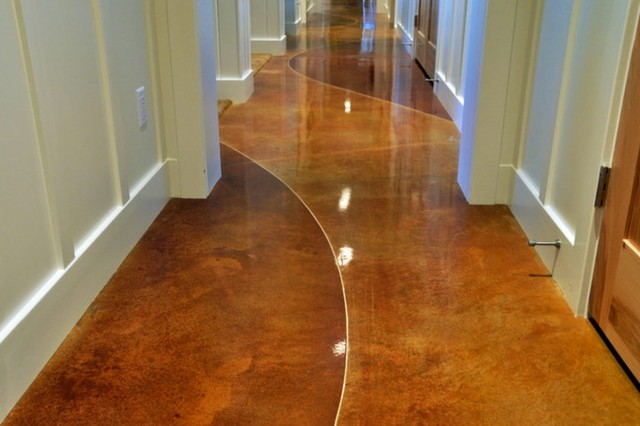 Stained Concrete Flooring Interior Exterior Contemporary