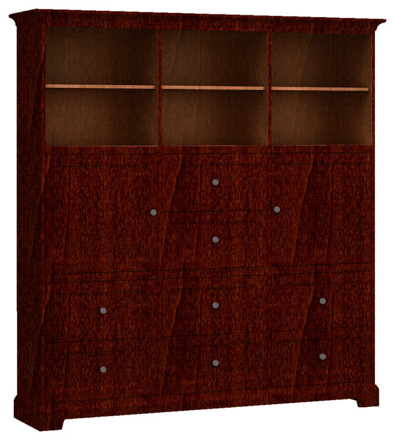 Howard Miller Custom Storage Cabinet, 8-Drawers, 2-Wood Doors - Transitional - Storage Cabinets ...