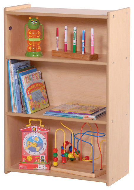 Genial Steffywood Kids Toddler Wooden Narrow Three Shelf Toys Book Storage Unit    Contemporary   Baby And Kids   By Clickhere2shop