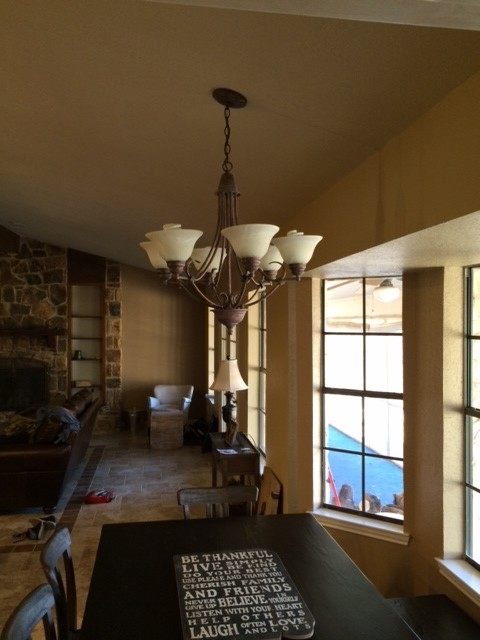 Mounting a large Light Fixture to sloped ceiling? Good or bad idea?