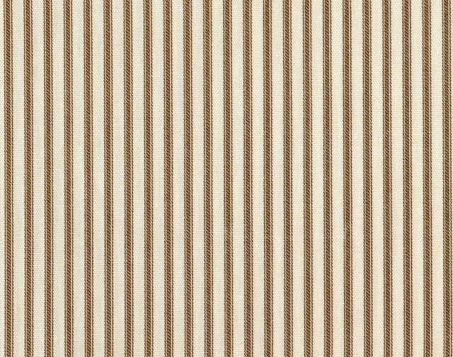 Skirted Coverlet King Suede Brown Ticking Stripe