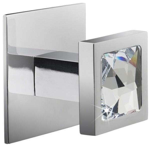 Moonlight Crystal Chrome Bathroom Hook 85571CR - Contemporary - Robe & Towel Hooks - by TableTop ...