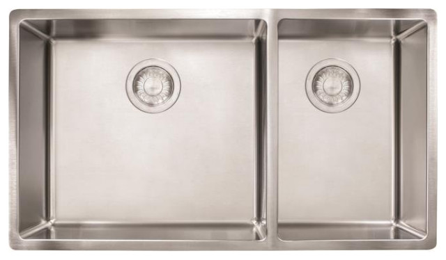 Franke CUX160 Cube 31 1/2  Stainless Steel Double Basin Undermount 10007 Sink