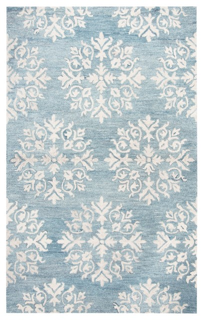 Rizzy Home Leone Lo309a Aqua/blue Medallion Area Rug, Rectangular 9&x27;x12&x27;.