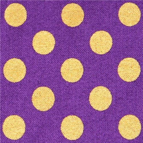 purple Robert Kaufman polka dot fabric Spot On Plum