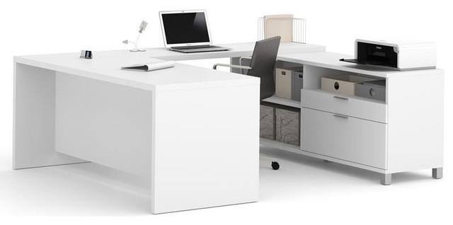 Bestar Pro Linea U Desk White