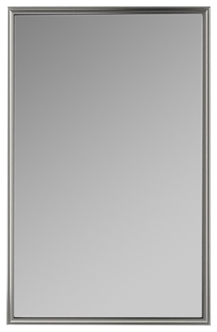 "Xdc2440 Penn Valley 23""x39"" Framed Cabinet, Gray Interior, Left, Satin Nickel."
