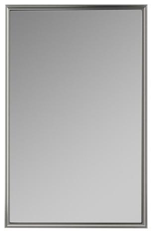 """Xdc2440 Penn Valley 23""""x39"""" Framed Cabinet, Gray Interior, Right, Satin Nickel."""