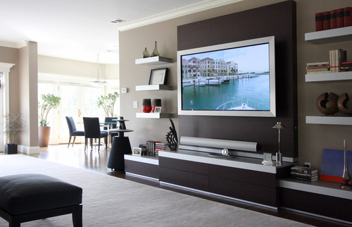 Tailored Sophistication contemporary family room