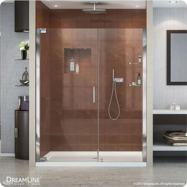 Elegance Frameless Pivot Shower Door Oil Rubbed Bronze 51
