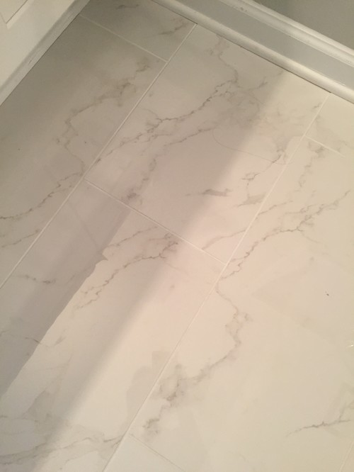 Choosing grout color for marble bathroom floors