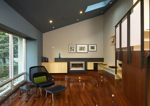transition paint colours - vaulted ceiling kitchen to living room