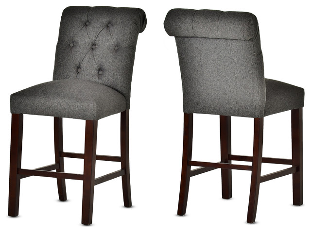Awesome Steve Silver Benson Counter Chair Charcoal Gray Dark Cherry Set Of 2 Ibusinesslaw Wood Chair Design Ideas Ibusinesslaworg