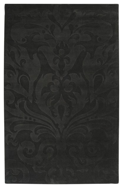 Black Area Rugs transitional sculpture area rug - transitional - area rugs -rugpal