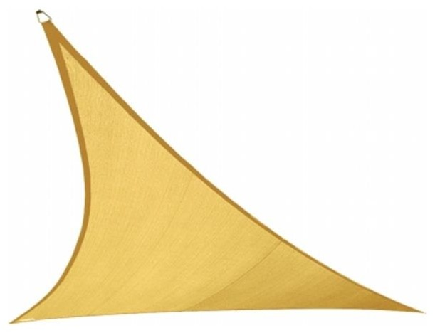 Gale Pacific Usa Coolaroo Coolhaven Shade Sail Large Triangle, 18&x27;, Sahara.