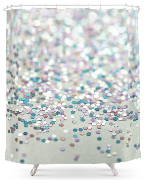 society6 glitter shower curtain contemporary shower. Black Bedroom Furniture Sets. Home Design Ideas