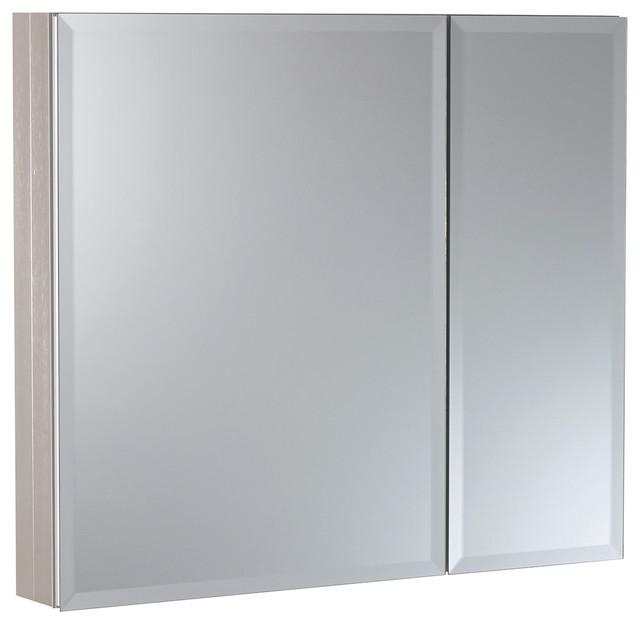 """30""""x26"""" Aluminum Medicine Cabinet, Brushed Nickel."""