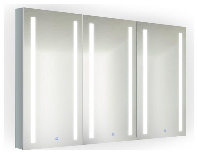 45 X 30 Tri View Led Medicine Cabinet, Led Medicine Cabinet With Defogger