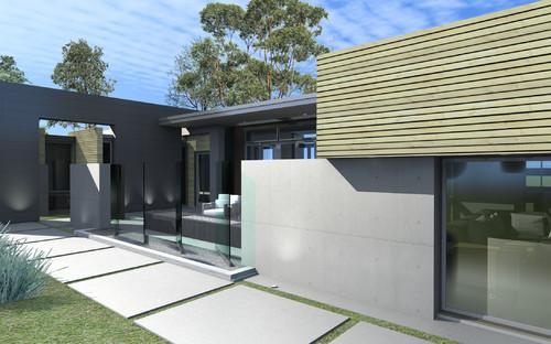 entry court modern exterior