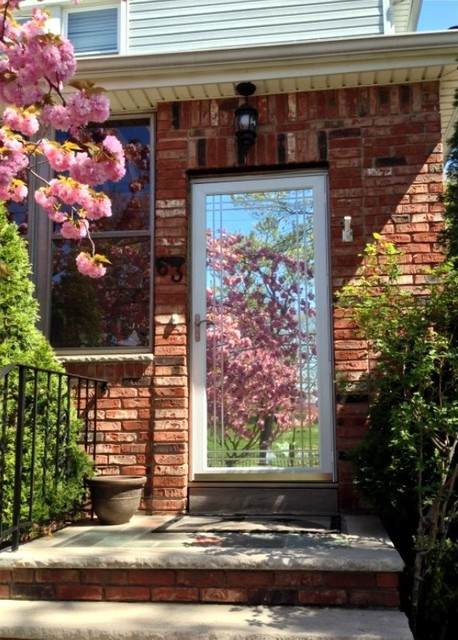 Andersen Storm Door Before And After Gila Privacy Film Mirror Appearance